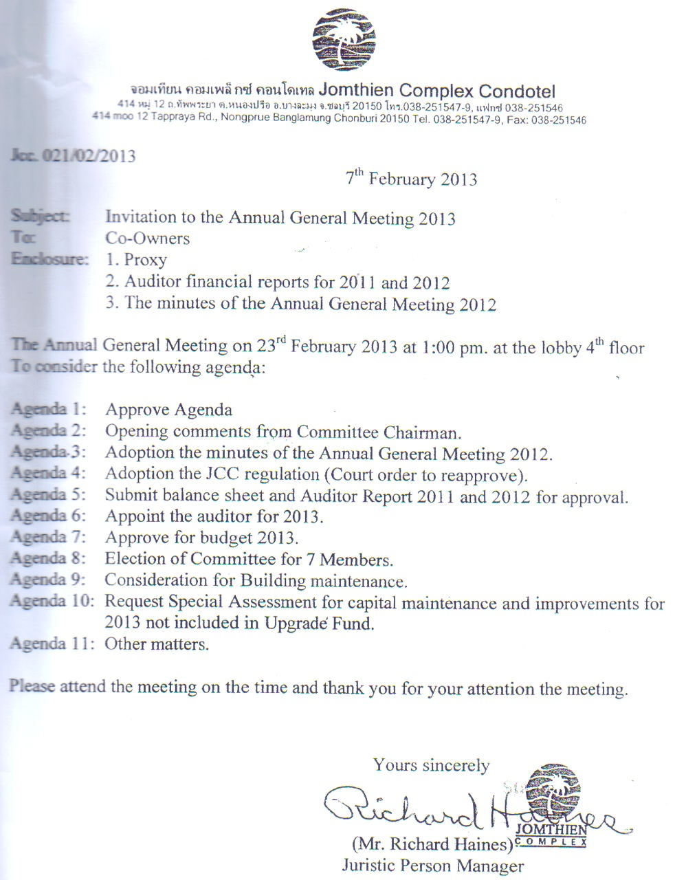 The juristic person manager register a illegal committee at the land below is the 2012 agm minutes which elected six co owners and approved to change the number to seven committee members the 2012 agm recording of the altavistaventures Image collections
