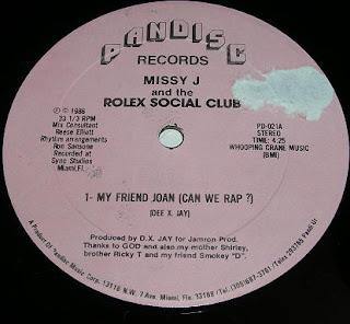 Missy j And The Rolex Social Club - My Friend Joan (Vinyl, 12\'\' 1986)