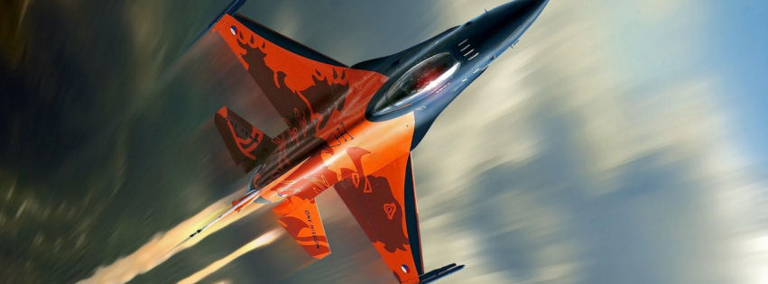 F16 fighting falcon fighter aircraft facebook cover