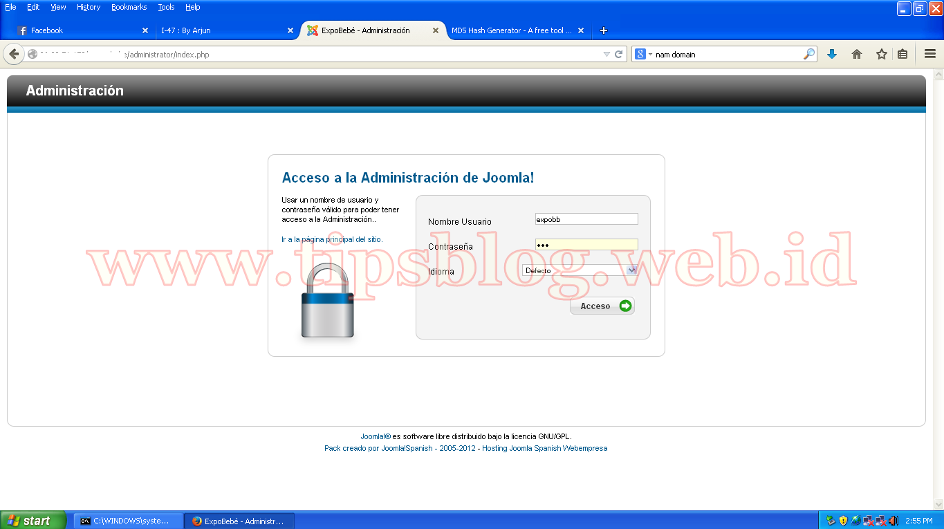 Cara Uploud / Tanam Shell Backdoor Di Joomla