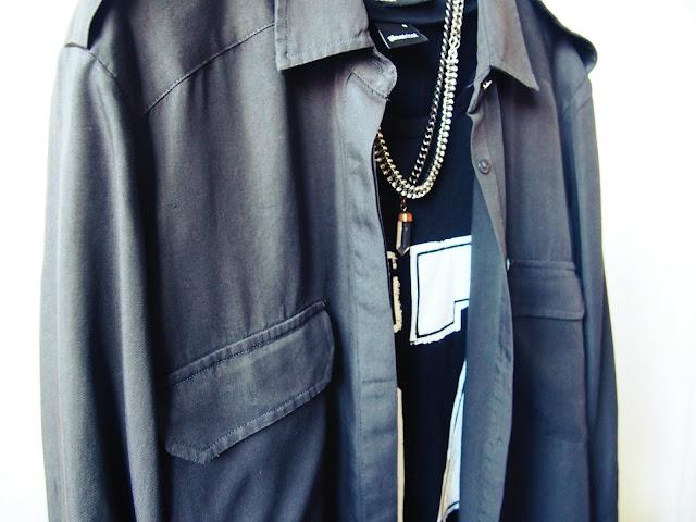 zara army shirt, gina tricot tunic