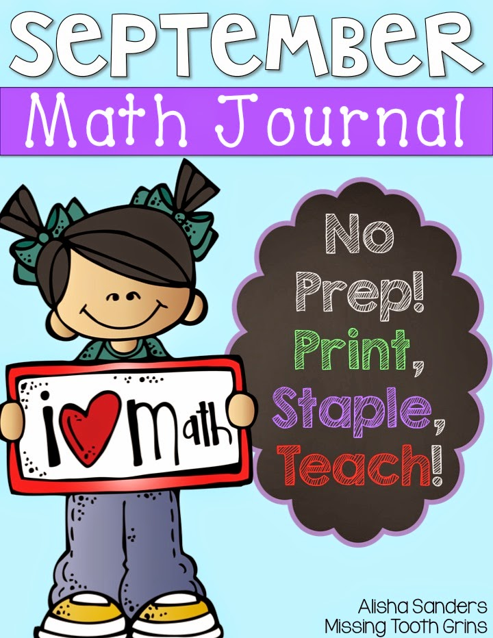 http://www.teacherspayteachers.com/Product/September-Math-Journal-No-Prep-1425170