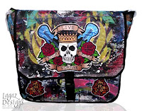 Rock N' Roll Forever Messenger Bag by Melissa Muir (Lagaz Designs)