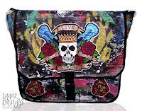 Rock N' Roll Forever Messenger Bag by Melissa Muir (Lagaz Designs)