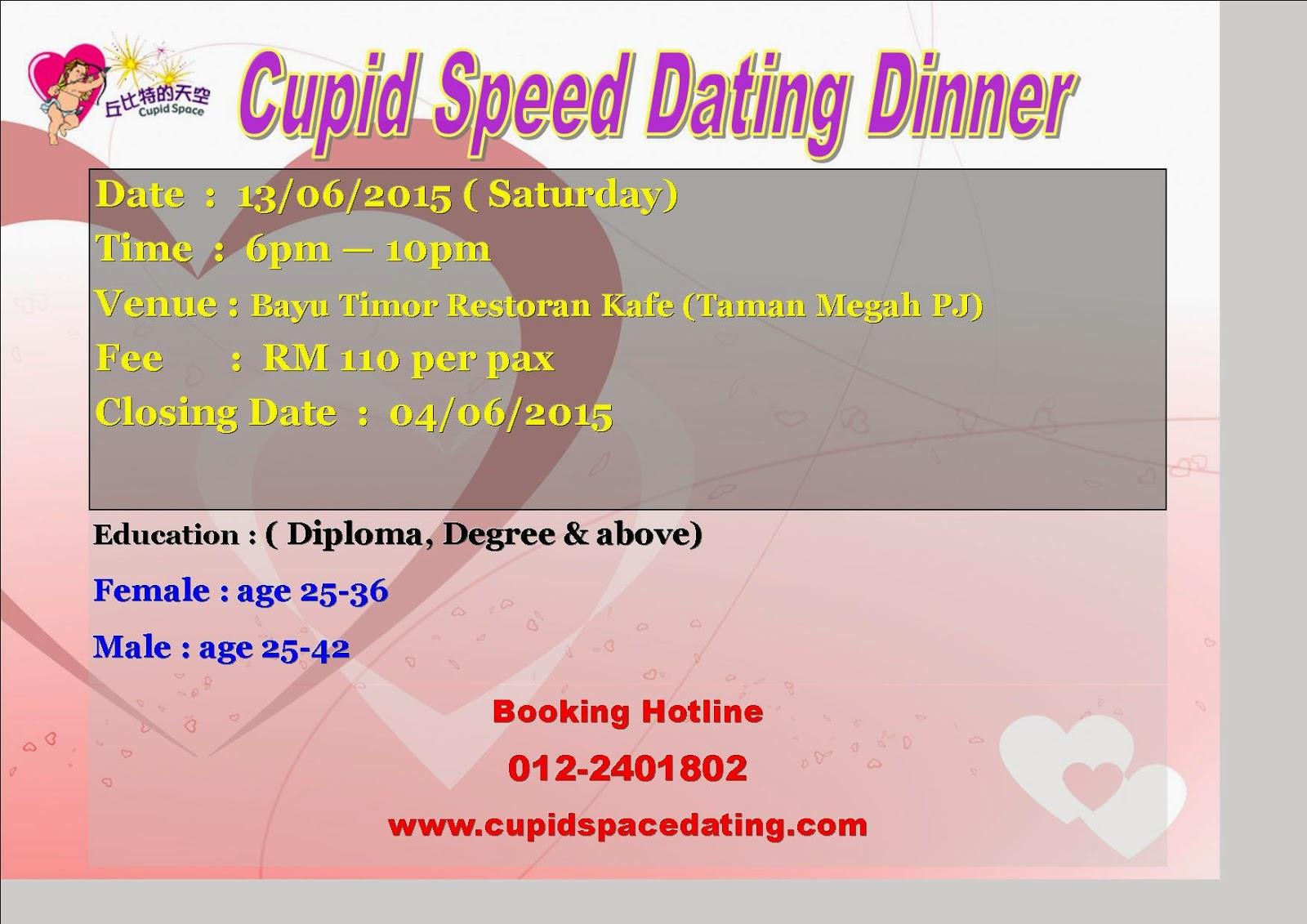 Speed dating dinner