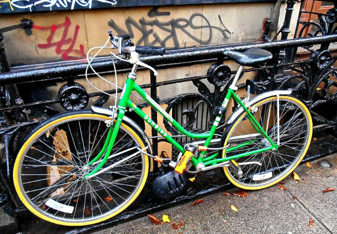 Green Schwinn Bike Nyc