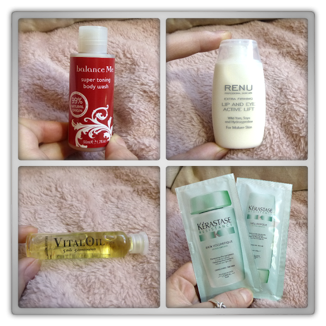 Balance me - Super toning body wash Renu - lip and eye active lift Broaer - Vital oil Kérastase - Volumique shampoo & gel treatment