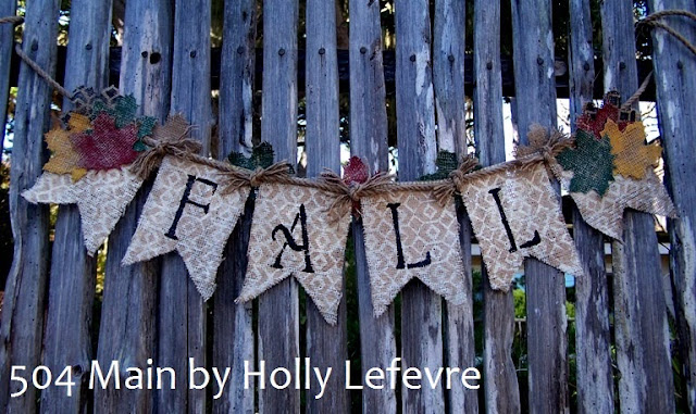 Fall Burlap Banner 504 Main by Holly Lefevre