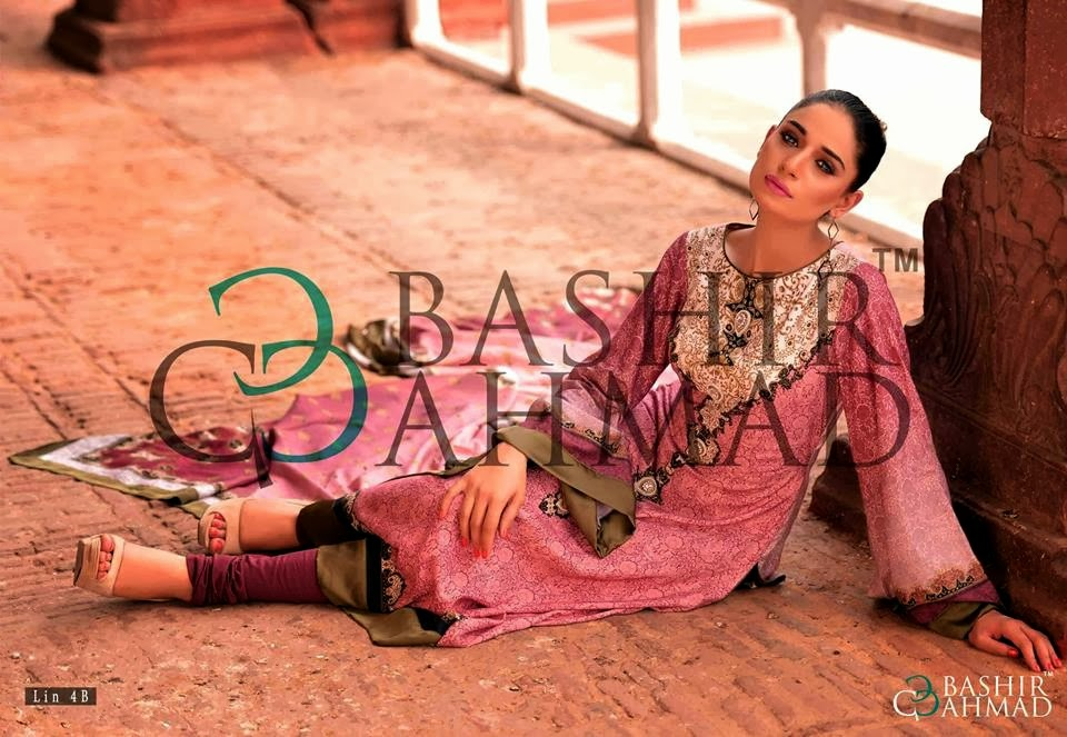 BashirAhmedLinen2013 14 wwwfashionhuntworldblogspotcom 009 - Bashir Ahmed Linen Dresses 2013 / 2014