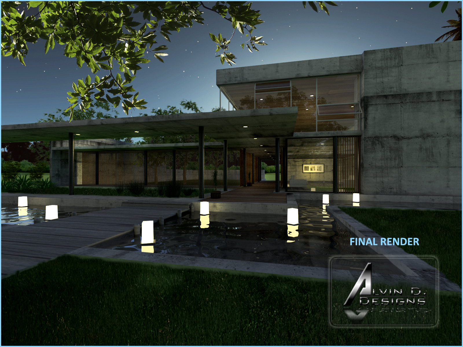 Sketchup texture tutorial vray for sketchup night scene 3 for Setting render vray sketchup exterior