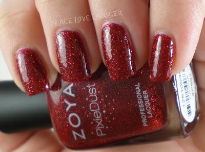 Zoya, PixieDust, Pixies, texture polish, sparkle, red
