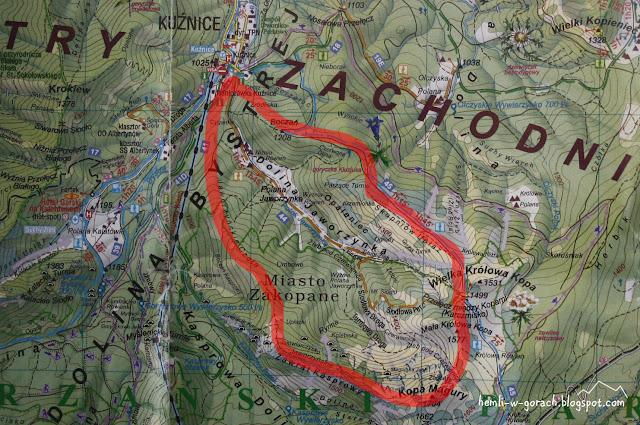 Dolina Jaworzynka na mapie