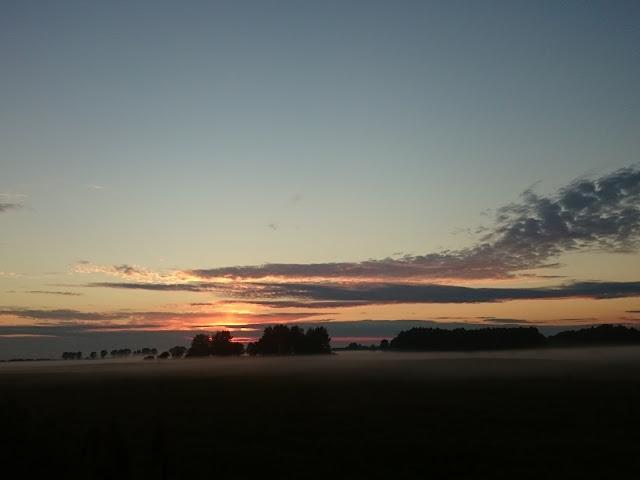 pani dorcia,Polska, jesień, zachód słońca, mgła, krajobraz, fotografia, wyzwanie