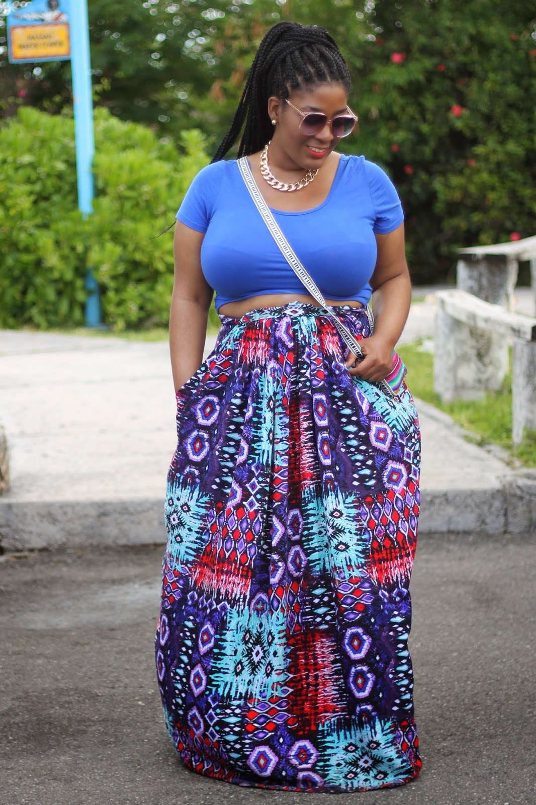 Vacation Style Crop Tops Maxi Skirts Style Chic 360