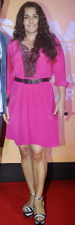 Actress Vidya Balan Pictures in Pink Short Dress at Shaadi Ke Side Movie Trailer Launch 0007.jpg