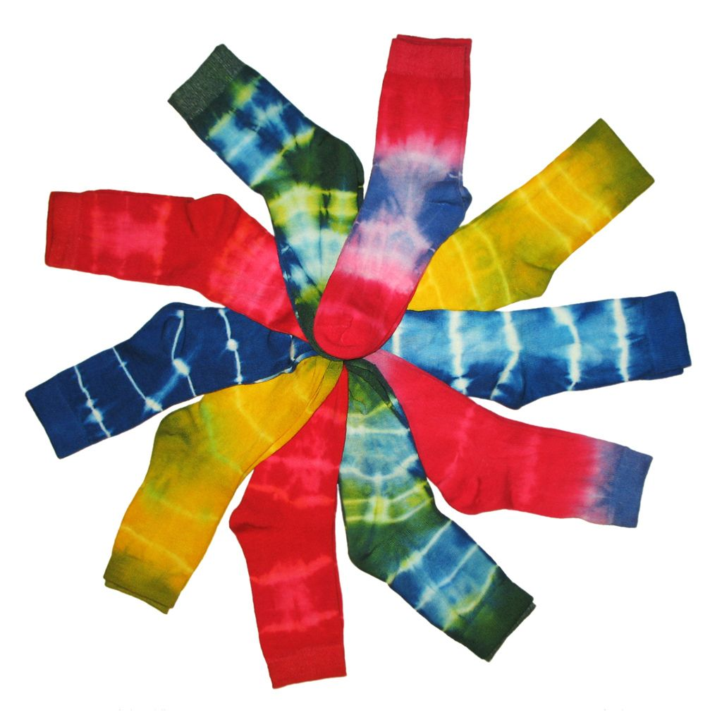 18. Colourful Batik Socks Spiral