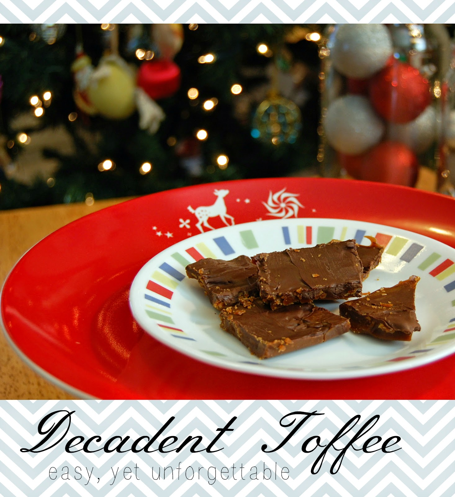 Super easy and delicious five ingredient Decadent Toffee recipe