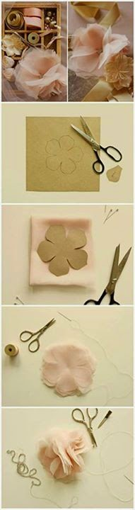Paper Flowers Step By Step Diy Tutorial