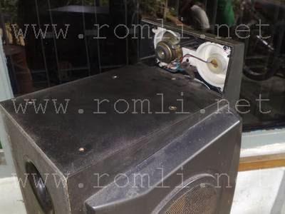 Cara membuka box speaker AIWA BMZ K7D