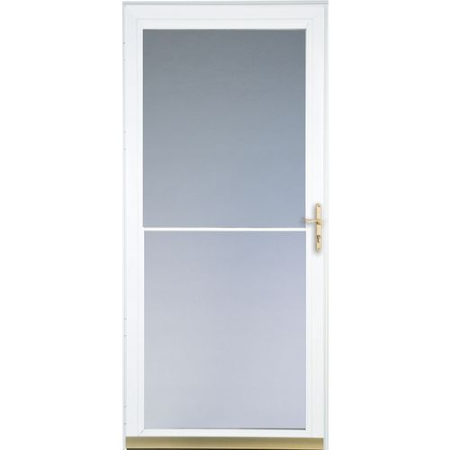 Full view storm doors a comparison for Full glass screen door