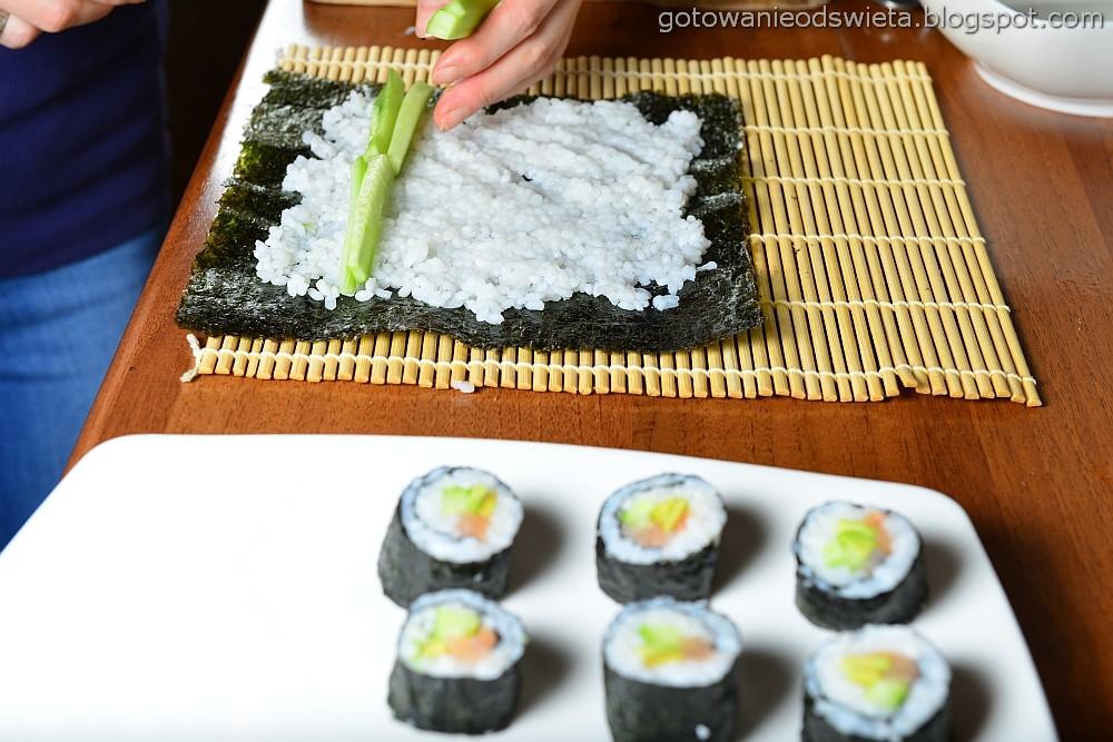 sushi rozkładamy składniki