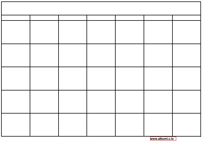 10 Blank calendar grid collection 2015 to print | 2016 Blank Calendar ...