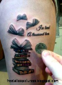 Open Book Tattoo on Pinterest  Disaster Tattoo Librarian Tattoo