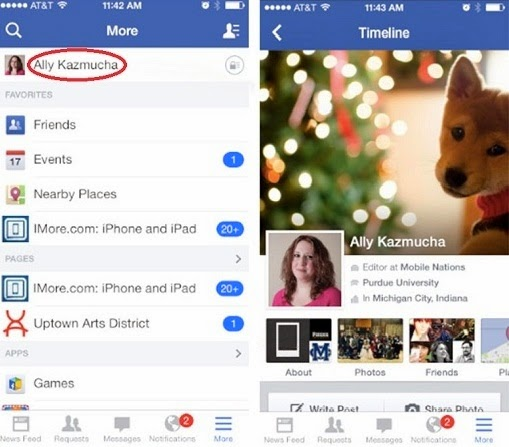 how to clear activity log on facebook iphone