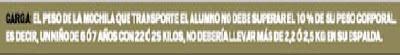 MOCHILAS ESCOLARES DOLOR DAÑO DE ESPALDA