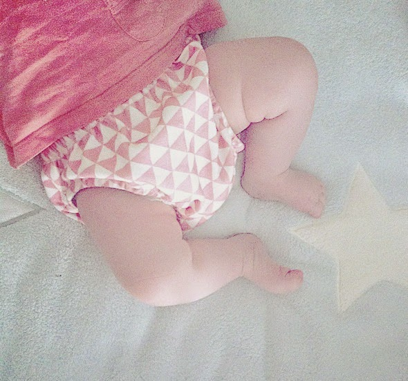 bébé bio triangle rose pink bloomer