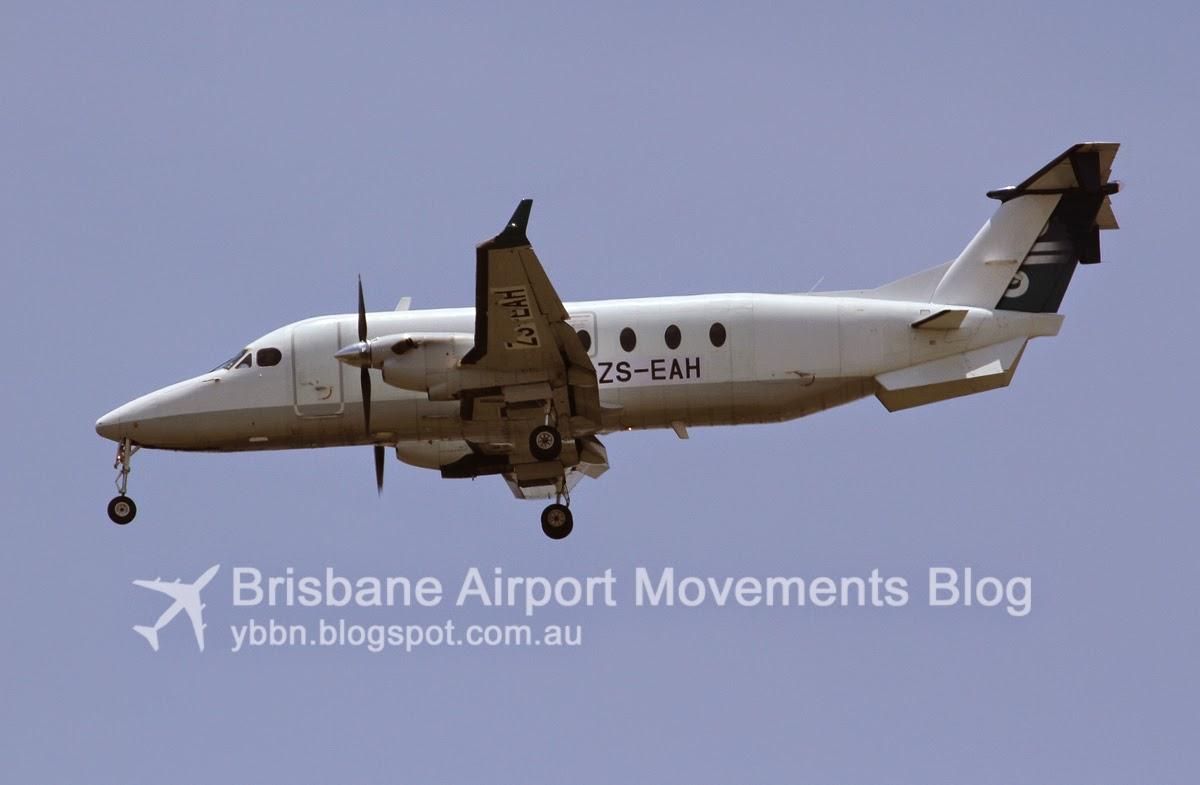 brisbane airport movements  ex air new zealand link b1900d