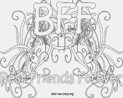Free BFF Coloring Pages