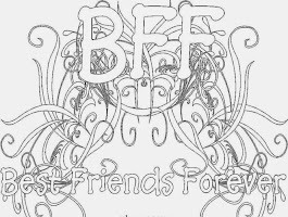 3 Best Friends Forever Coloring Pages