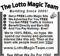 Florida Lotto Magic 2 inch display ad