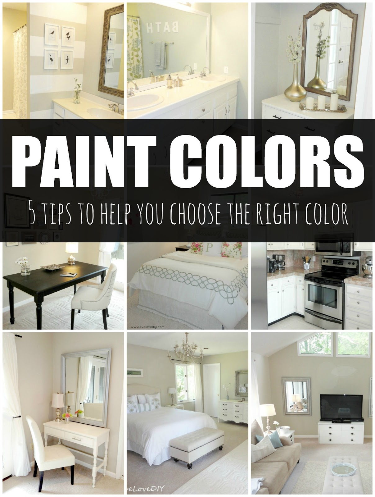 livelovediy how to choose paint colors 5 tips to help you decide. Black Bedroom Furniture Sets. Home Design Ideas