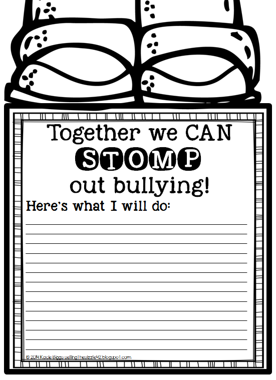 http://www.teacherspayteachers.com/Product/STOMP-out-Bullying-FREEBIE-1482453