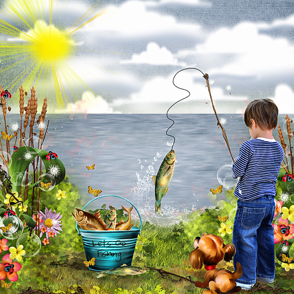 The art of imagination lets go fishing by valentina 39 s for Lets go fishing