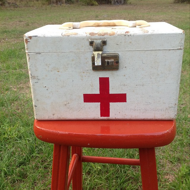 #thriftscorethursday Week 57 | Instagram user: thecrownedgoat shows off this Vintage First Aid Box