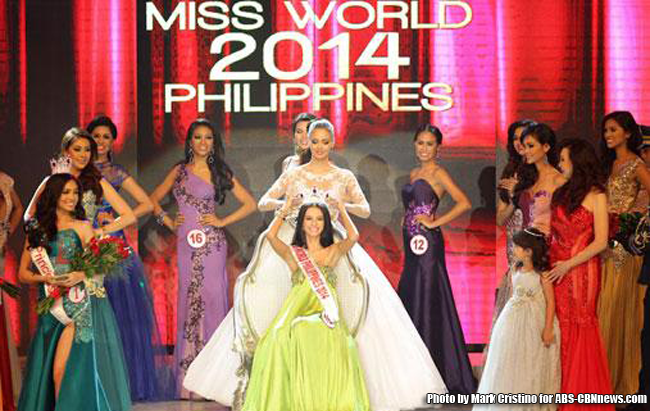 Valerie Clacio Weigmann Crowned as Miss World Philippines 2014