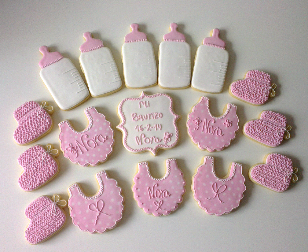 galletas decoradas con glasa real de bebe para bautizo