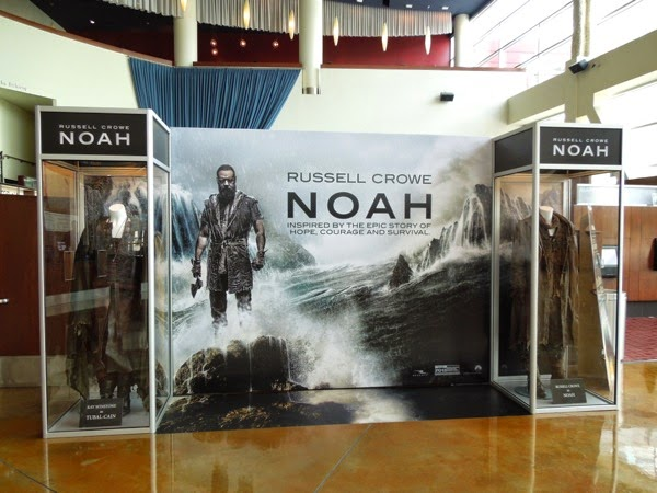 Original Noah movie costume exhibit