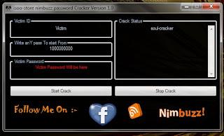 Nimbuzz Password Cracker Version 1.0 Untitled