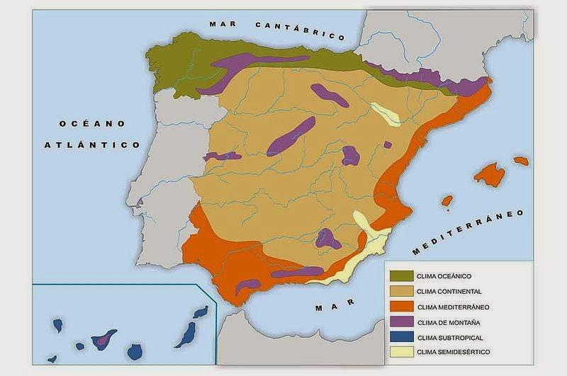 Geo espa a el clima de espa a - Humedad relativa espana ...