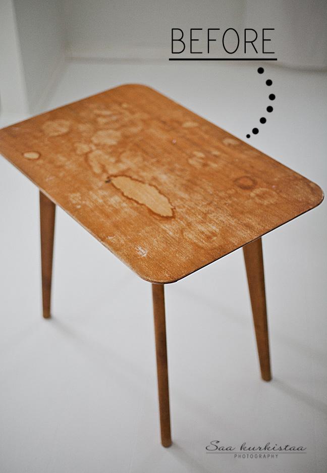 Pöydän uusi elämä  Saa Kurkistaa