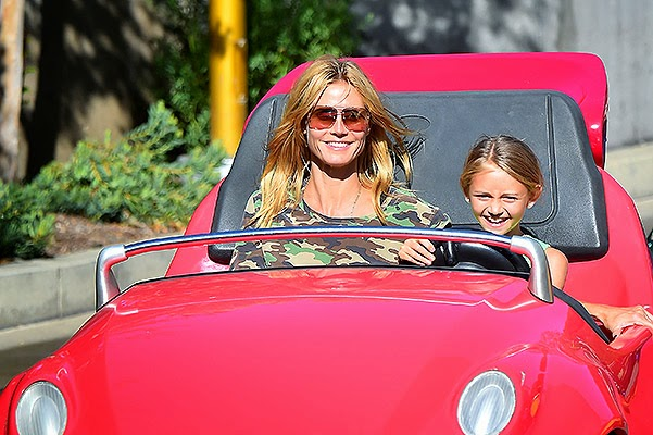 Heidi Klum with children and boyfriend Vito Schnabel visited Disneyland