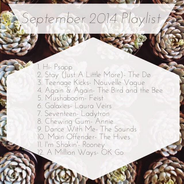 September 2014 Playlist