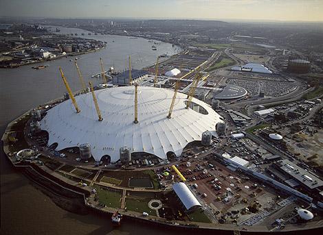 Vistas de la Cúpula del Milenio en Londres