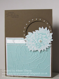 Stampin Up Creative Elements and Manhattan Flower Folder