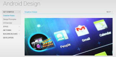 situs web android design