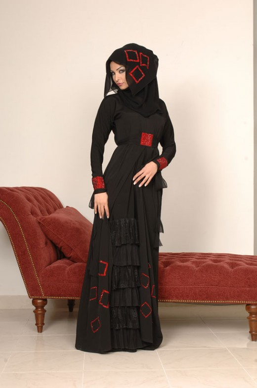 Emoo Fashion Latest Abaya Collection 2012 New Abaya